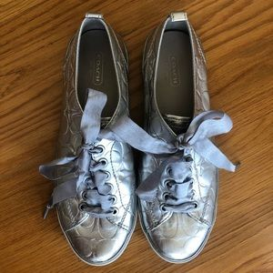 Coach Shoes - Silver Coach Sneakers 💙
